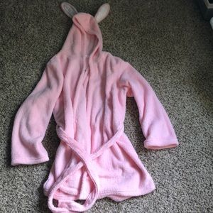 Size XL pink bunny bath robe BRAND NEW WITH TAGS